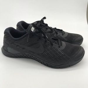 Men's Nike metcon black 3 cross trainer gym shoes